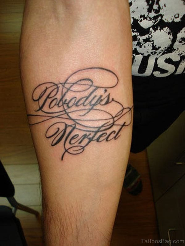 Great Wording Tattoo