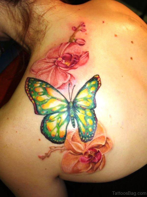 Butterfly Tatto Butterfly Flower Tattoo