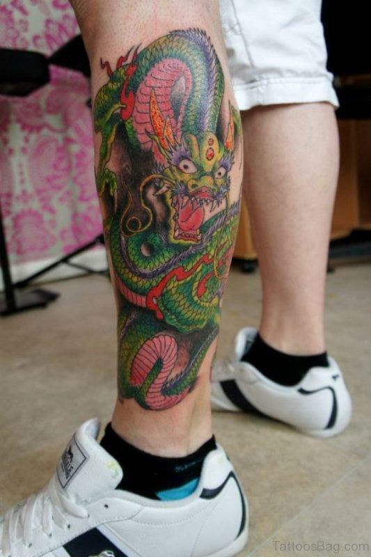 Green Dragon Tattoo Design