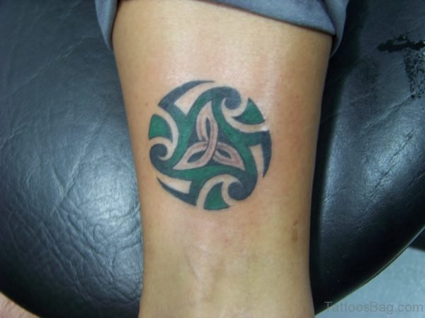 Green Ink Tribal Tattoo