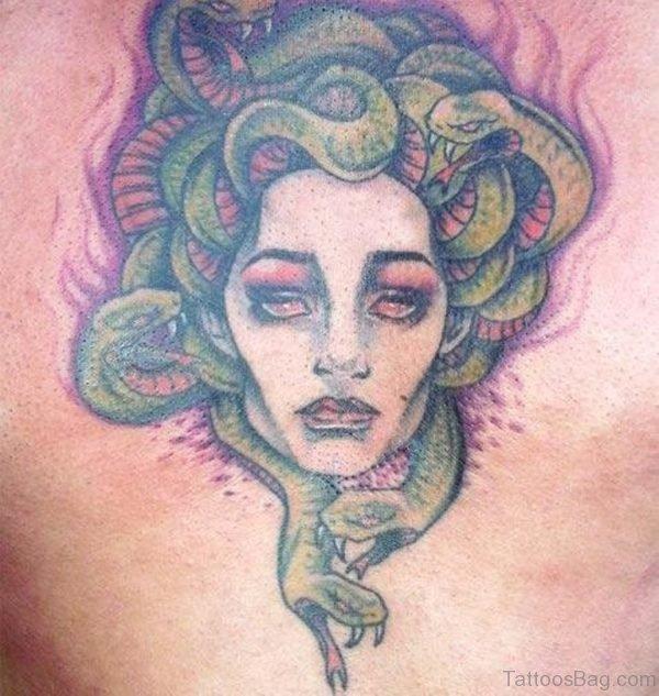 Green Medusa Tattoo Design