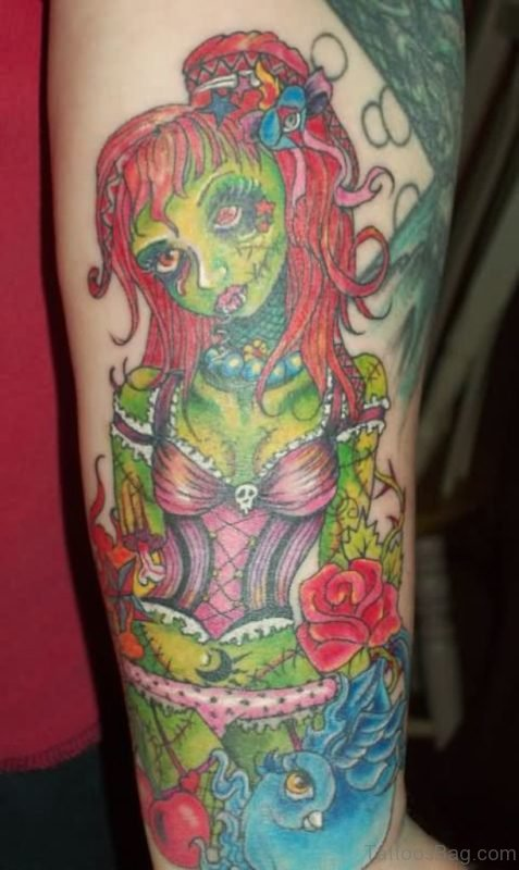 Green Zombie Tattoo