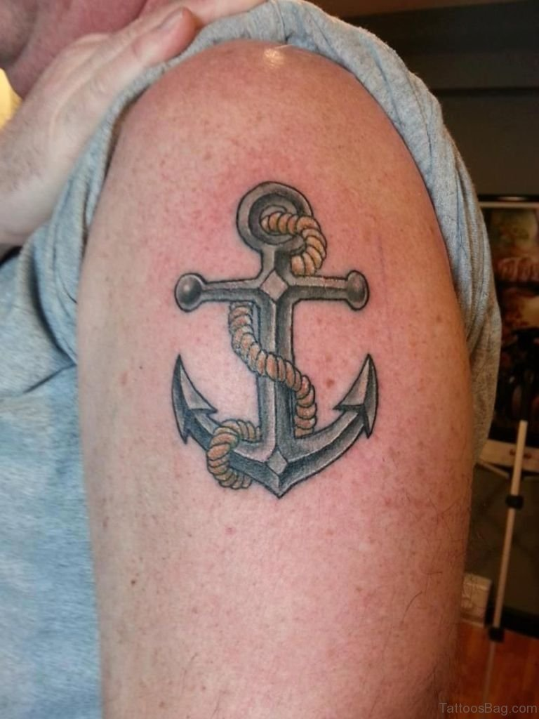 63a89b6b5 70 Stunning Anchor Tattoos Designs On Shoulder