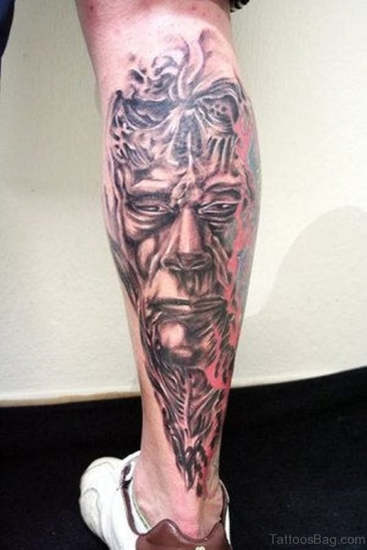 Grey Biomechanical Tattoo