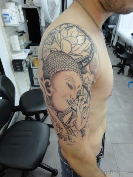 Grey Buddha Tattoo