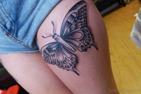Grey Butterfly Tattoo