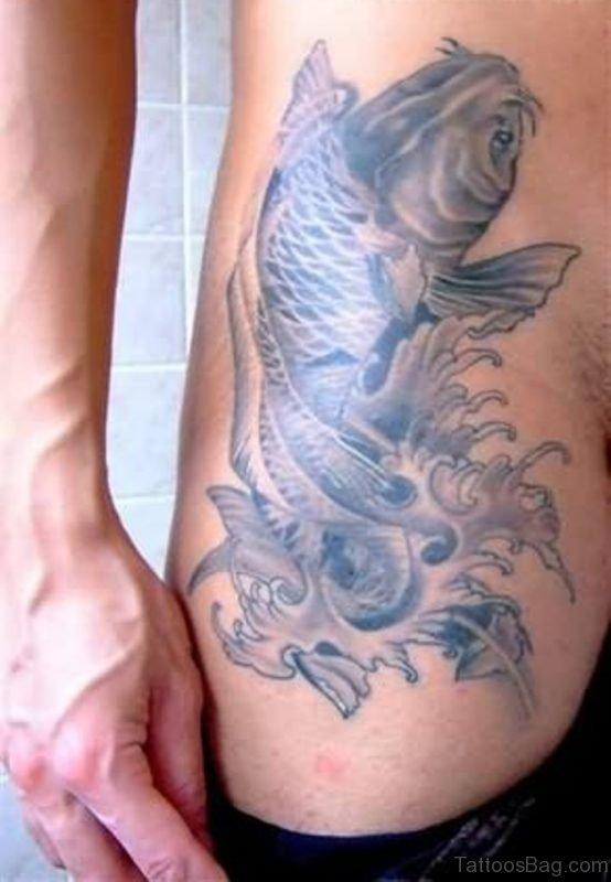 Grey Fish Tattoo Design