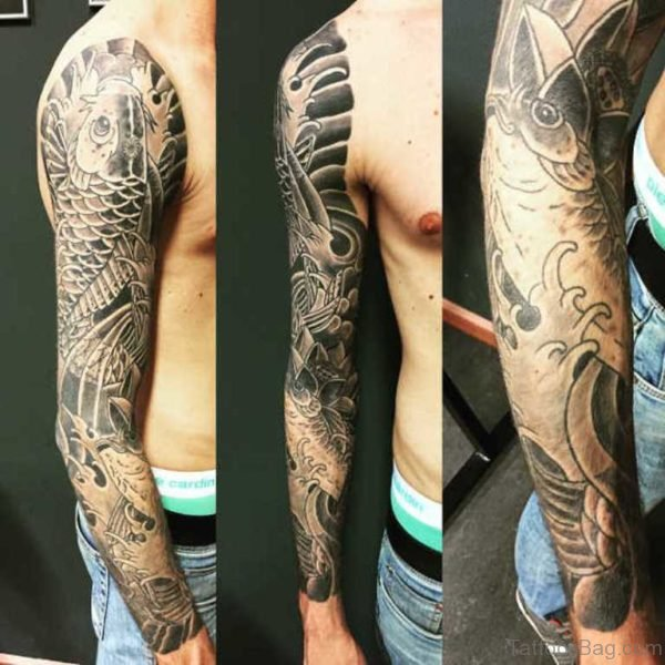 66 Stunning Fish Tattoos On Full Sleeve