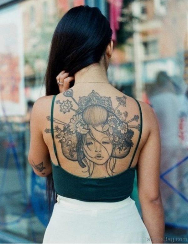 Grey Geisha Tattoo