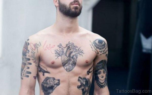 Grey Heart Tattoo