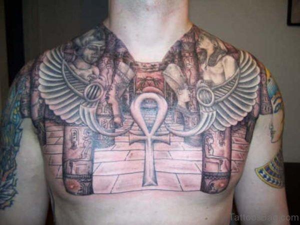 Grey Ink Aztec Tattoo Design