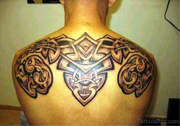 Grey Ink Celtic Tattoo