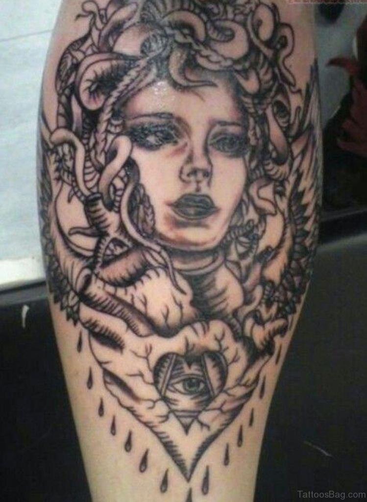 80 elegant medusa tattoos on shoulder for Grey tattoo ink