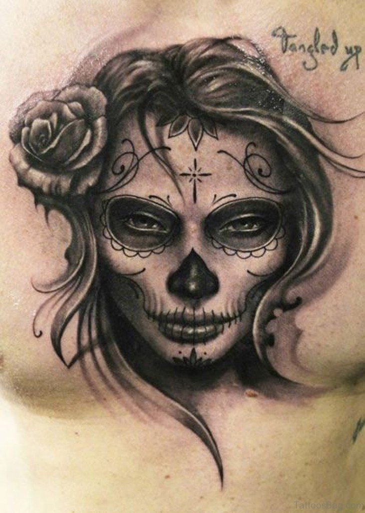 70 elegant portrait tattoos for chest. Black Bedroom Furniture Sets. Home Design Ideas