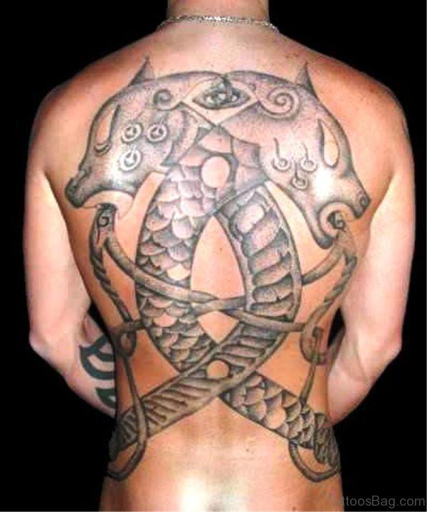 Grey Inked Celtic Tattoo