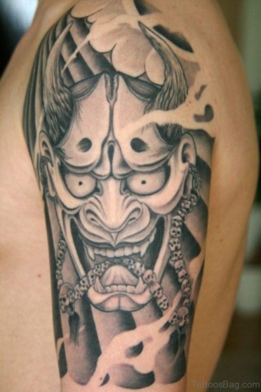 Grey Inked Mask Tattoo
