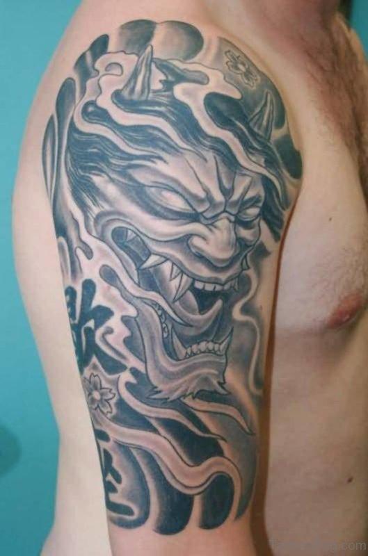 Grey Mask Tattoo