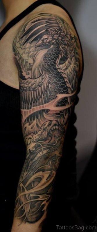Grey Phoenix Tattoo