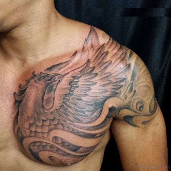 Grey Phoenix Tattoo