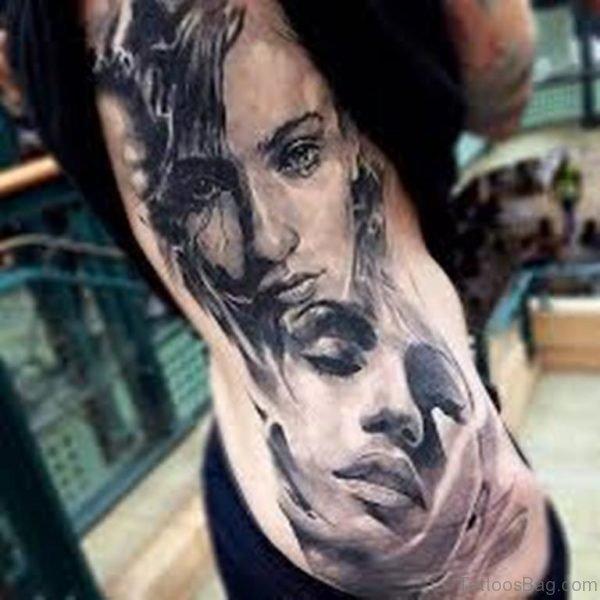 Grey Portrait Tattoo