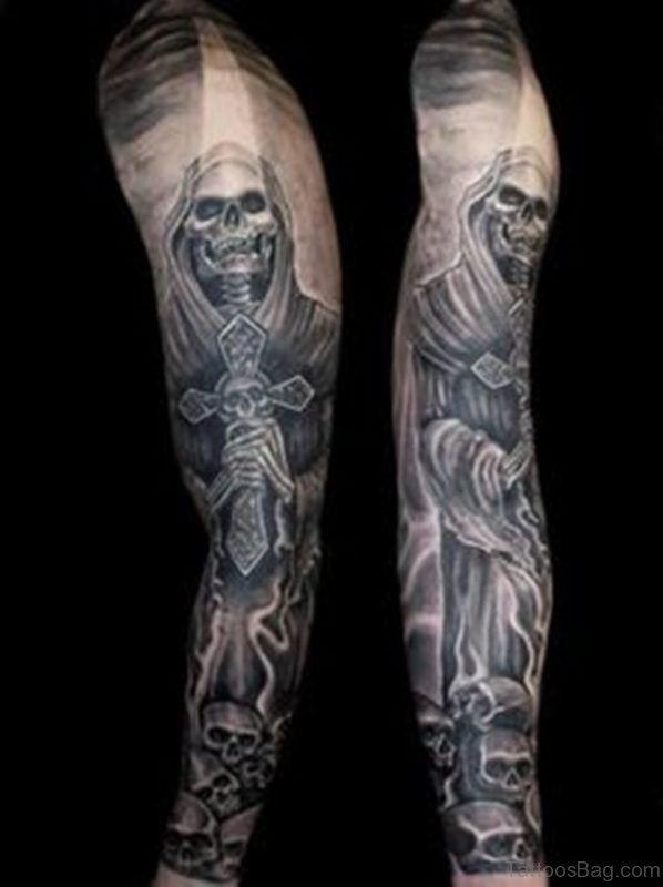 Grey Skull Tattoo