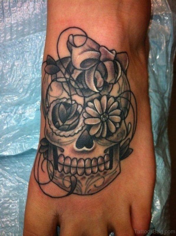 Grey Skull Tattoo