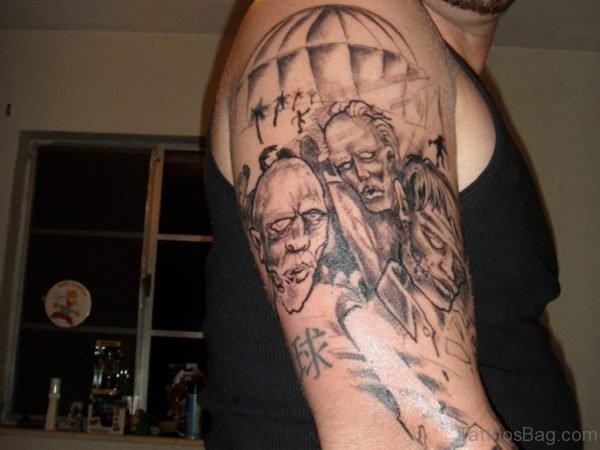 Grey Zombie Tattoo