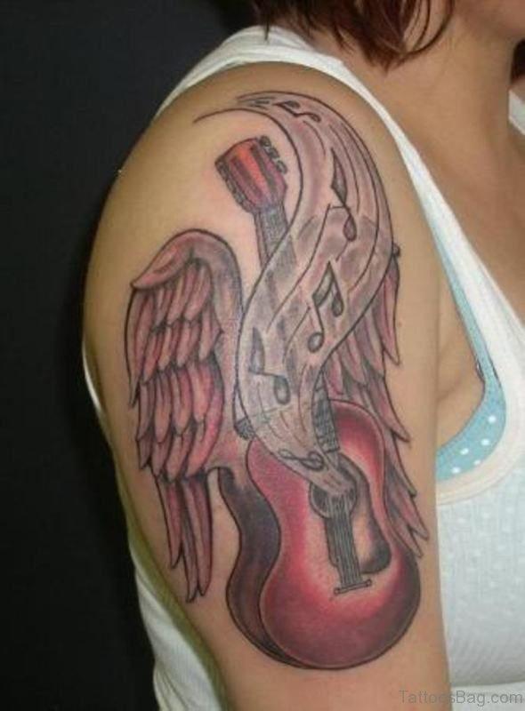 Guitar Music Tattoo