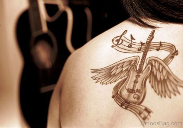 Guitar With Wings On Back