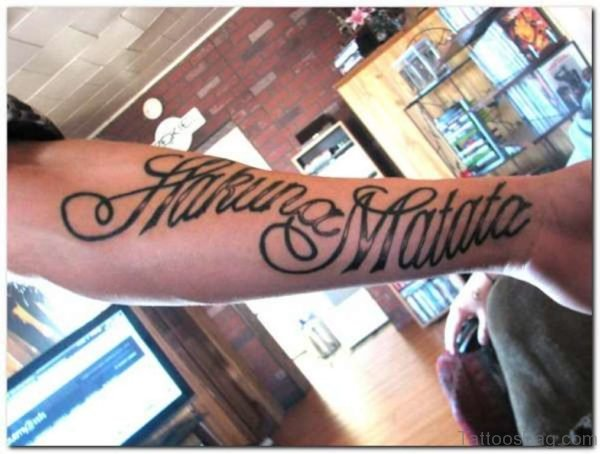 Hakuna Matata Wording Tattoo
