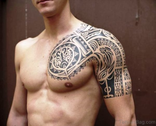 Half Sleeves Maori Tattoo
