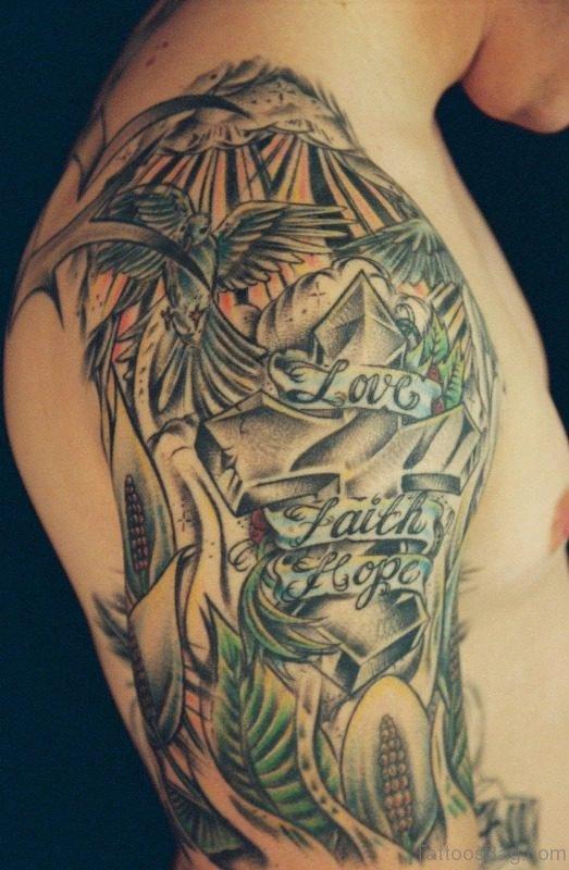 Half Sleeves Shoulder Tattoo Design