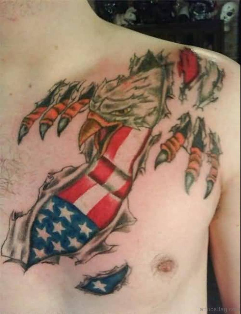 42ad6d93afdc8 57 Classic Flag Tattoos On Chest