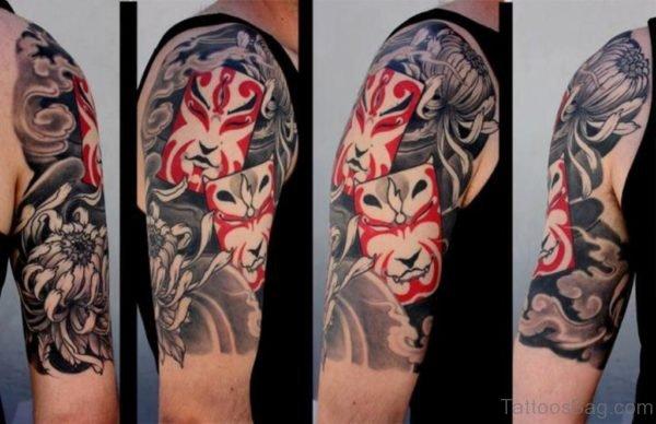 Hannya Tattoo On Shoulder