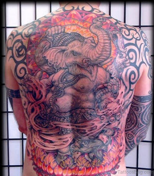 Happy Ganesha Tattoo