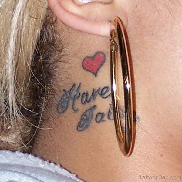 Have Faith Wording Tattoo