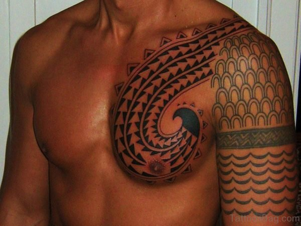 Hawaiian Chest Tattoo