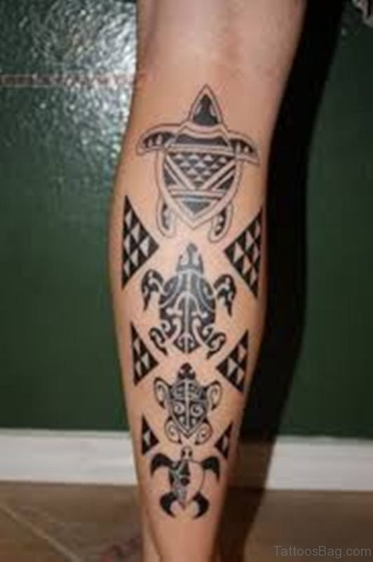 Hawaiian Tribal Tattoo Design