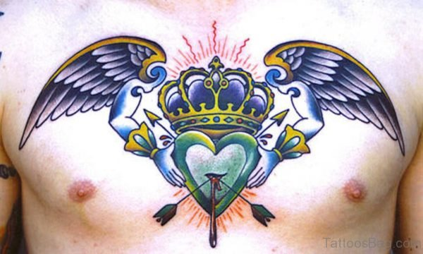 Heart And Crowned Tattoo