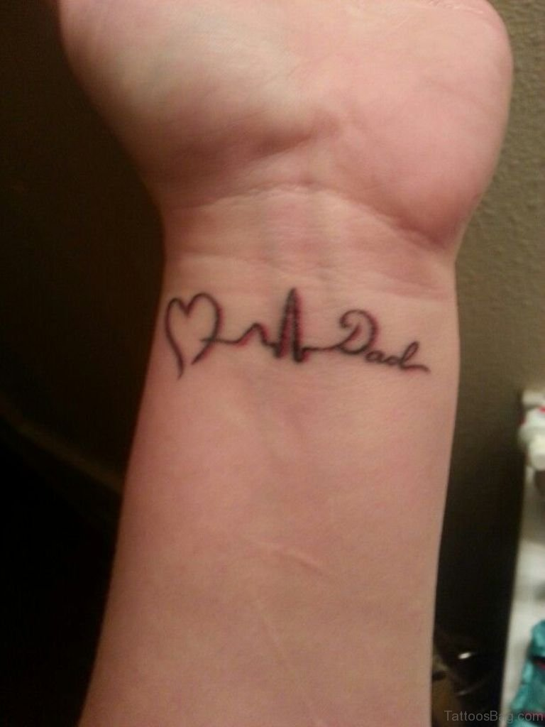 62 lovable wording tattoos for wrist for Small memorial tattoos