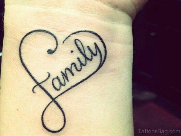 Heart And Family Tattoo
