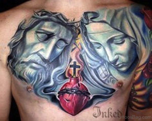 Heart And Jesus Tattoo