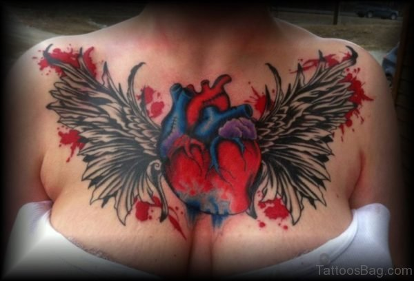 Heart And Wings Tattoo