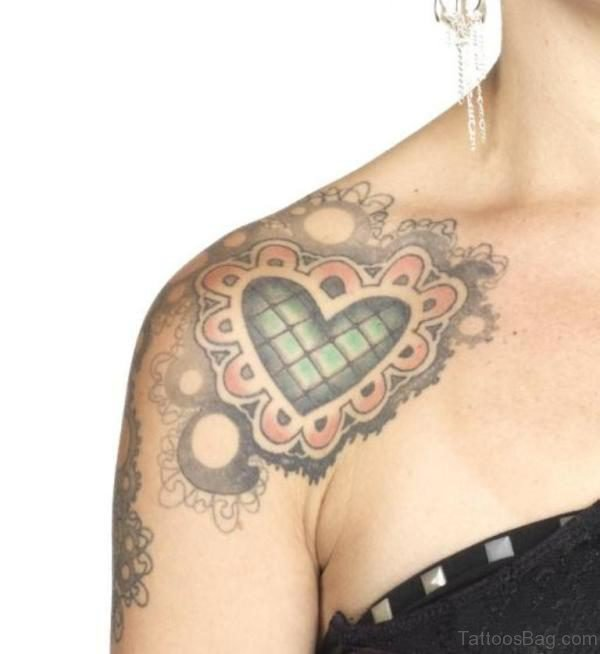 Heart Pattern Lace Tattoo