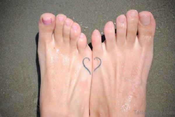 Heart Tattoo On Feet