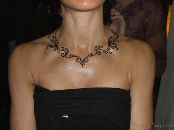 Henna Necklace Tattoo