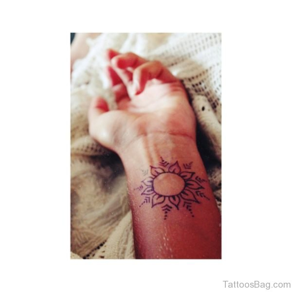 Henna Tattoo On Wrist