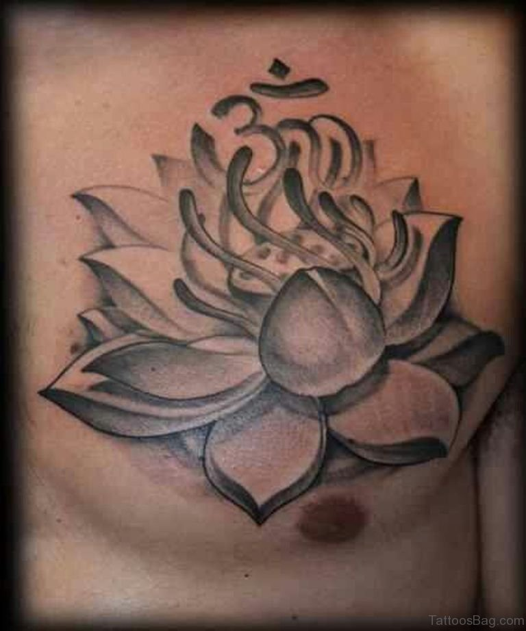 3bd2b1632 50 Beautiful Lotus Tattoos On Chest