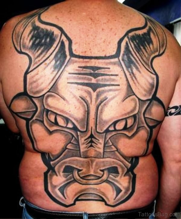 Holland Bull Tattoo On Back