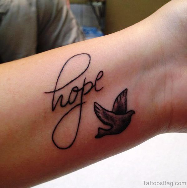 Hope And Dove Tattoo